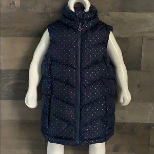 Girls Gap Polka Dot Puffer Vest